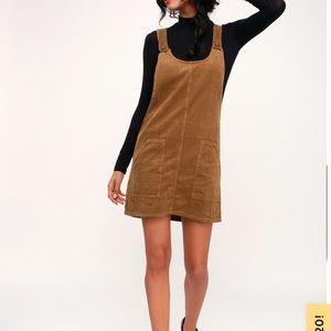 Lulus Corduroy Tan Dress